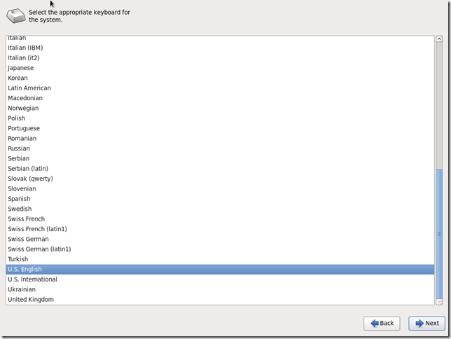 Install OS Screen 5