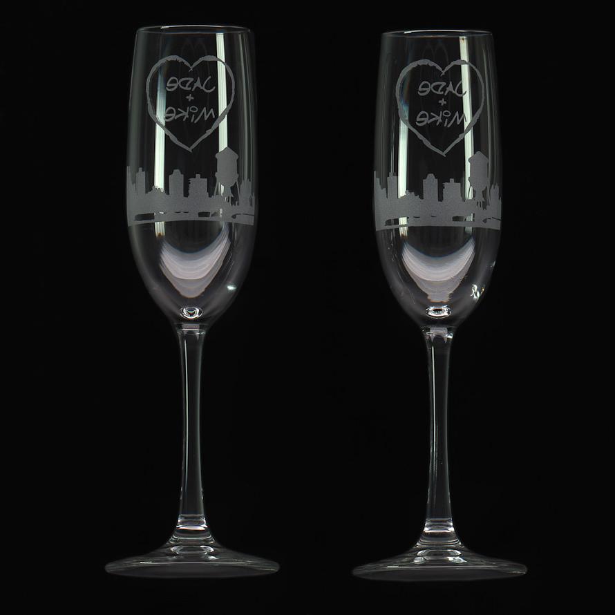 Custom Wedding Toast Champagne