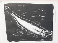 Dej BAO. 008 . Un Chemin dans la Pierre . 1975 . Lithographie . 27,5 x 36,5 cm