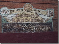 Whitehall Hardware sign