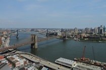Iconic Brooklyn Bridge of New York