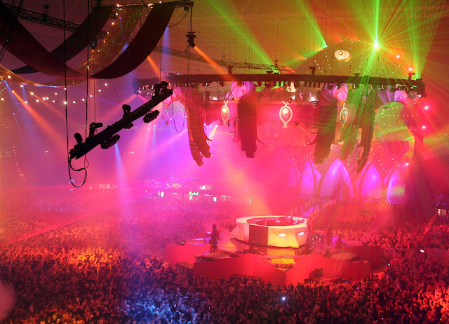 top view of sensation in Amsterdam, Noord Holland, Netherlands