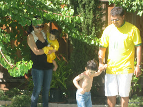 Anu and Jewel with the kids