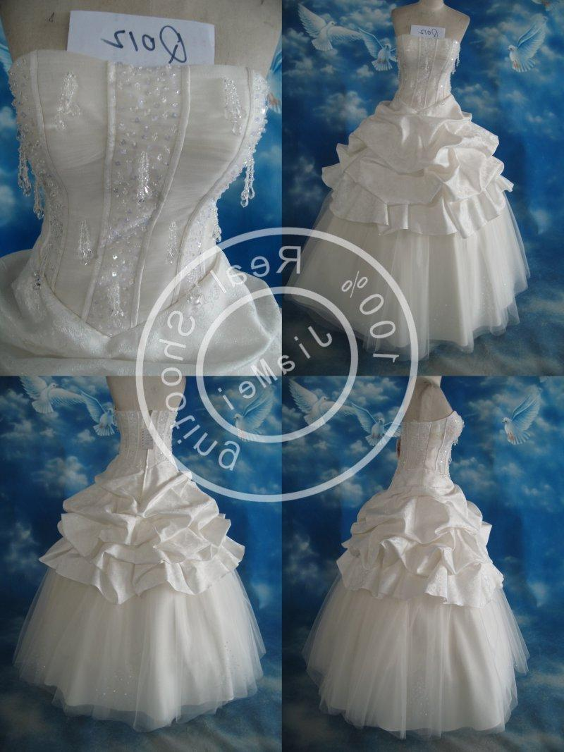 See larger image: bridal gown Wedding dress Lace bead mesh crystal