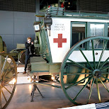 World War I ambulance at Dutch National Military Museum Soesterberg in Soest, Utrecht, Netherlands