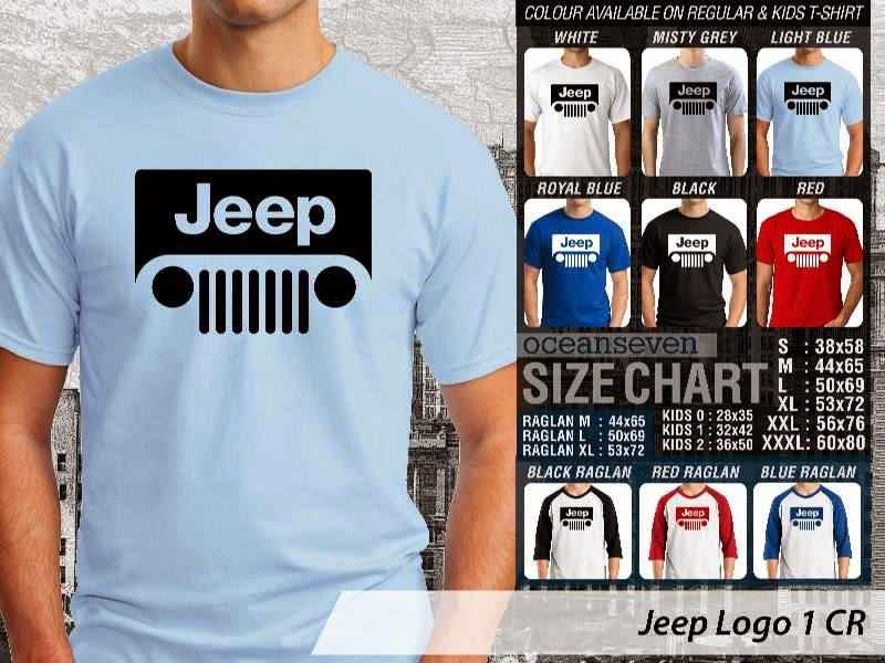 KAOS Jeep Logo Otomotif distro ocean seven