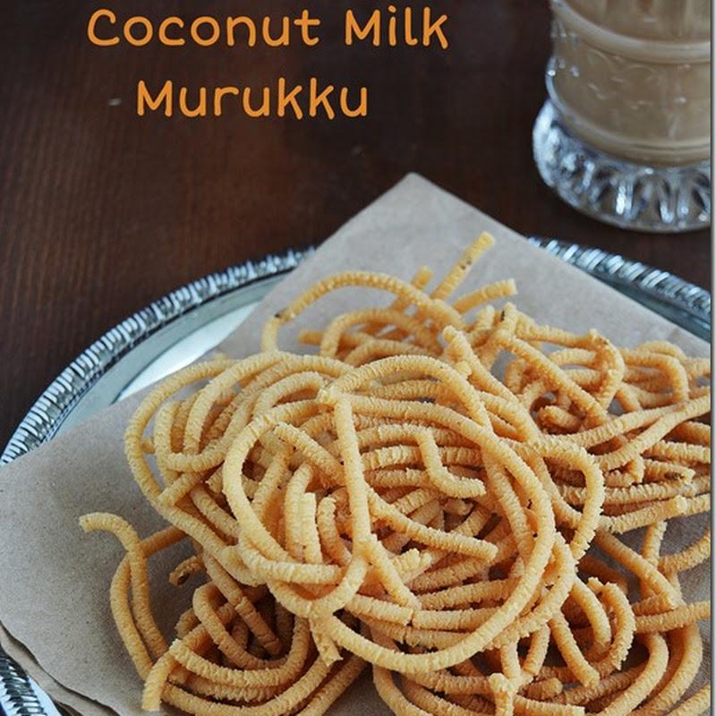 Coconut Milk Murukku/Thengai Paal Murukku