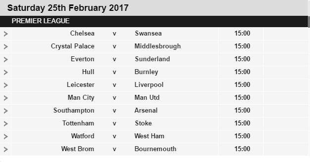 Premier league fixtures 2016 17 released