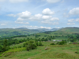 Fairfield, Red Screes and other Lakeland Fells from Orrest Head