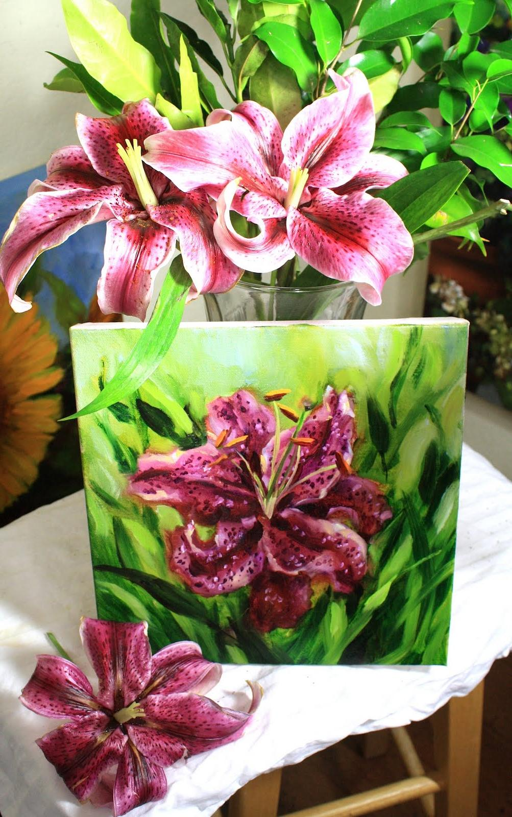 Deep Purple Stargazer Lily by