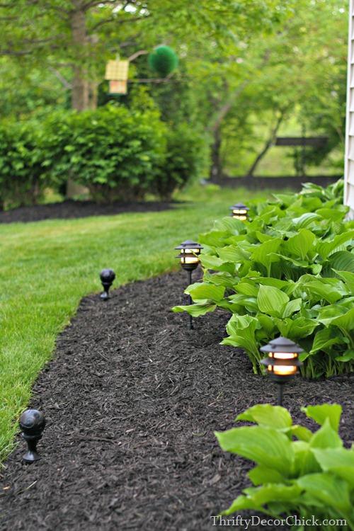 landscaping lights in garden