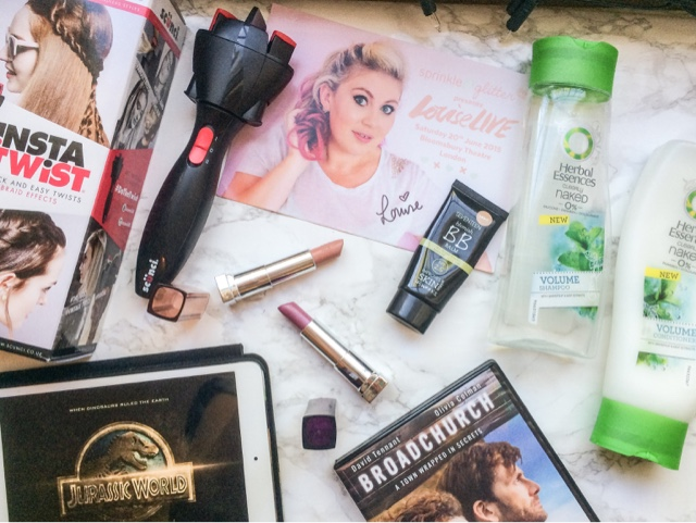 june-favourites-favorites-beauty-fashion-lifestyle-blog-scunci-instatwist-hair-haircare-hairstyle-festival-louise-live-sprinkle-of-glitter-live-tour-herbal-essences-clearly-naked-shampoo-volume-seventeen-bb-cream-magic-blemish-balm-maybelline-coloursensational-lipstick-sugarplum-tantalizing-taupe-jurassic-world-broadchurch