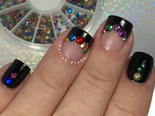 Nails Art: Glitter Rhinestone - Lady Queen Beauty Review