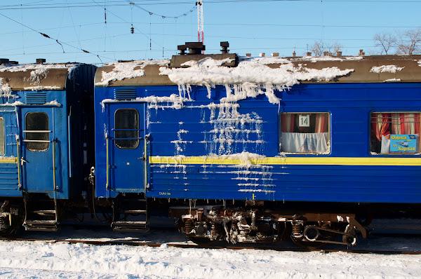 зима перрон поезд одесса-харьков