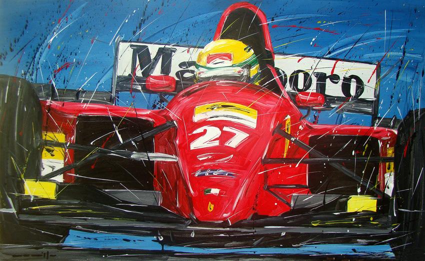 Айртон Сенна Ferrari 27 by Roberto Muccillo