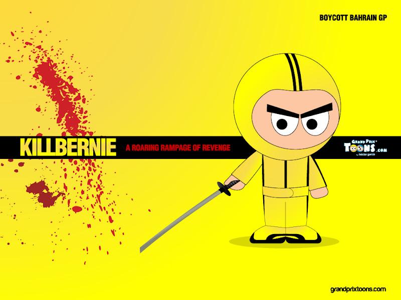 Берни Экклстоун Kill Bernie - комикс Grand Prix Toons перед Гран-при Бахрейна 2012