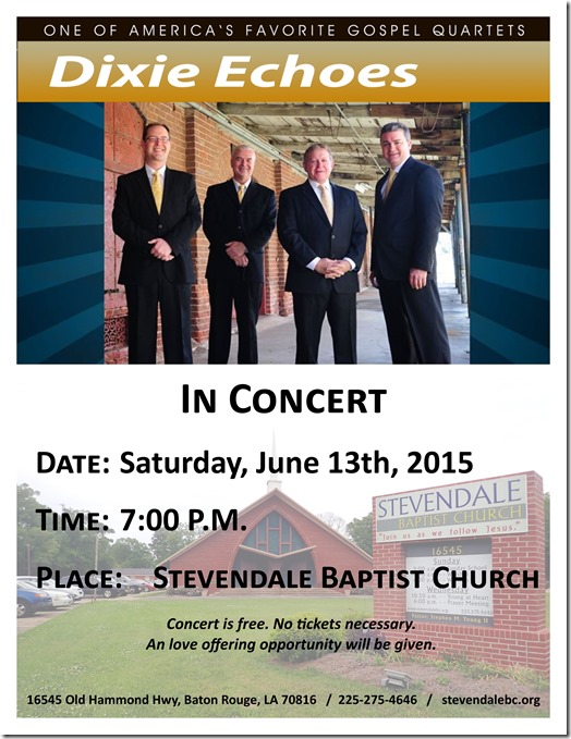 Concert - The Dixie Echoes June 2015