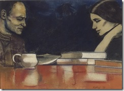 rb-kitaj-two-london-painters-frank-auerbach-and-sandra-fisher-1979