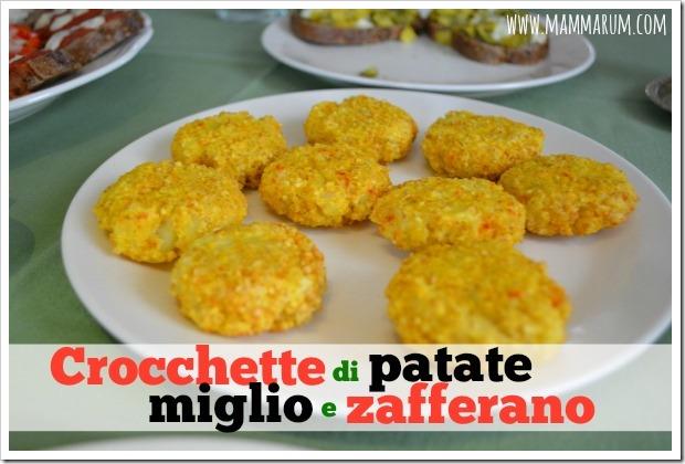 ricetta crocchette di miglio e patate