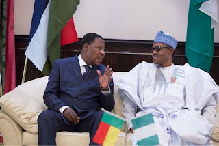 Nigeria's President Buhari and Benin Republic's President Yayi