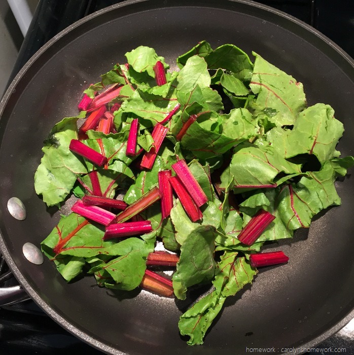 Sauteed Beet Greens via homework (10)
