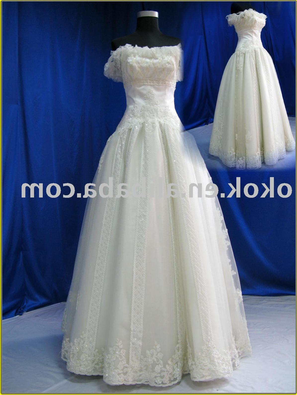See larger image: VA037 cap sleeve Couture wedding dress