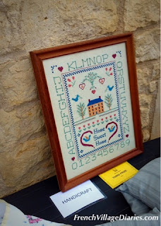 French Village Diaries Garden Club Show potager orchard vegetable gardening cross-stitch sampler