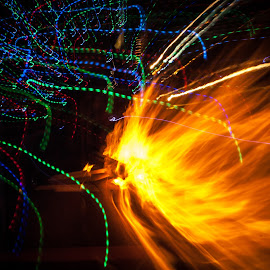 Fire and light by Maurizio Riccio - Abstract Light Painting ( abstract, slow exposure, light, slow shutter, fire )