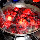 Marcel's ultimate berry sauce in IJmuiden, Noord Holland, Netherlands