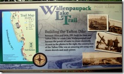WLT info sign Building the Tafton Dike