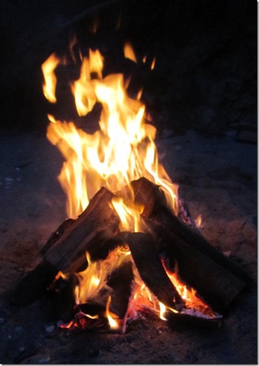 Feuer zur Sommersonnenwende