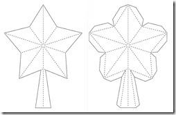 moldes estrellas 5 puntas