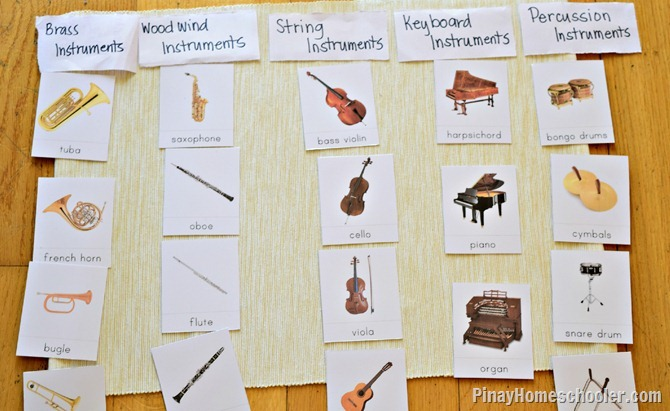 Music Instruments Sorting