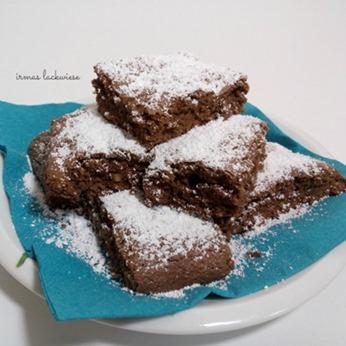 minz-brownies-mit-mandeln-6