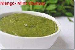 Mango- Mint Chutney