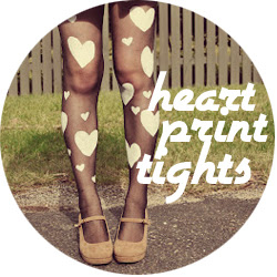 DIY Heart Print Tights