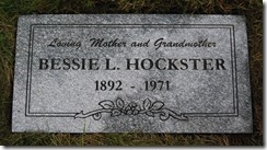 LINDSAY_Bessie married name HOCKSTER_headstone_GrandLawnCem_DetroitWayneMichigan