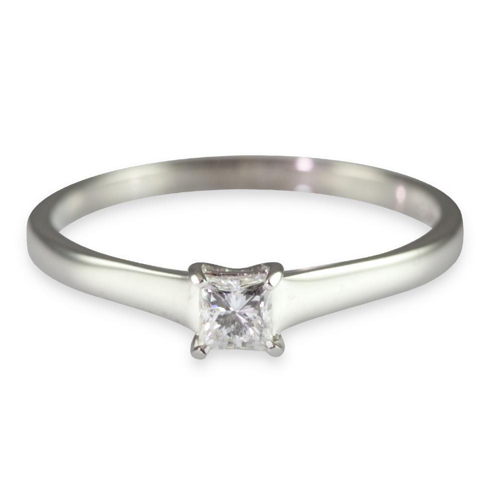 Gold 0.25ct Princess Cut
