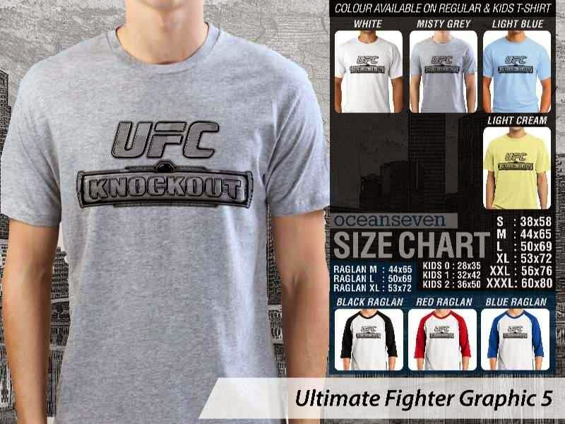 Kaos UFC Ultimate Fighter UFC Knock Out Graphic 5 distro