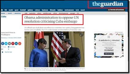 obama se opondrá a la resolución contra el bloqueo 2015