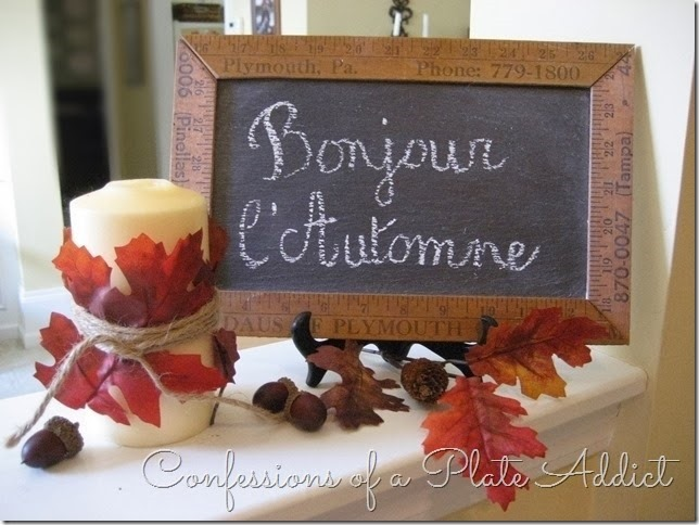 CONFESSIONS OF A PLATE ADDICT Autumn Greeting Chalkboard