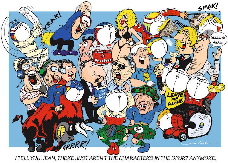 персонажи Формулы-1 - комикс Jim Bamber в межсезонье 2012-2013