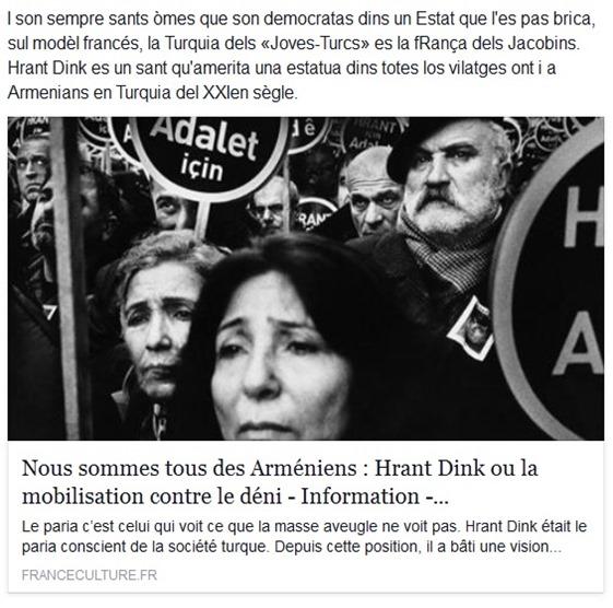Armenian de Turquia Hrant Dink programa de France Culture