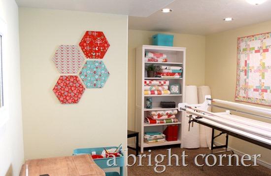 hexagon wall decor finished