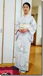 爽やかお色のお着物に (1)