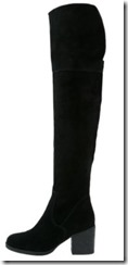 Steve Madden Octagon black suede over the knee boots