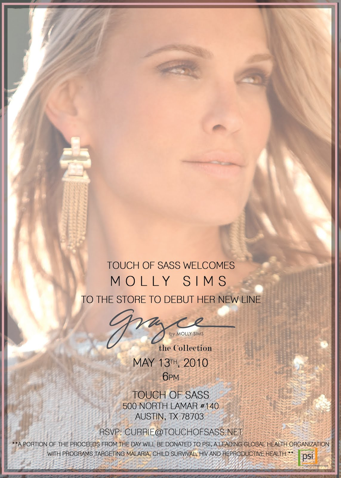 Molly Sims at Touch of Sass