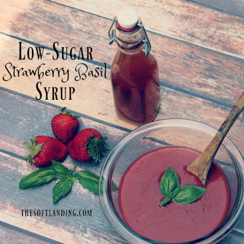 Low-sugar Strawberry Basil Syrup