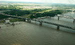 Mississippi River, taken from the Arch, St. Louis, Missouri.