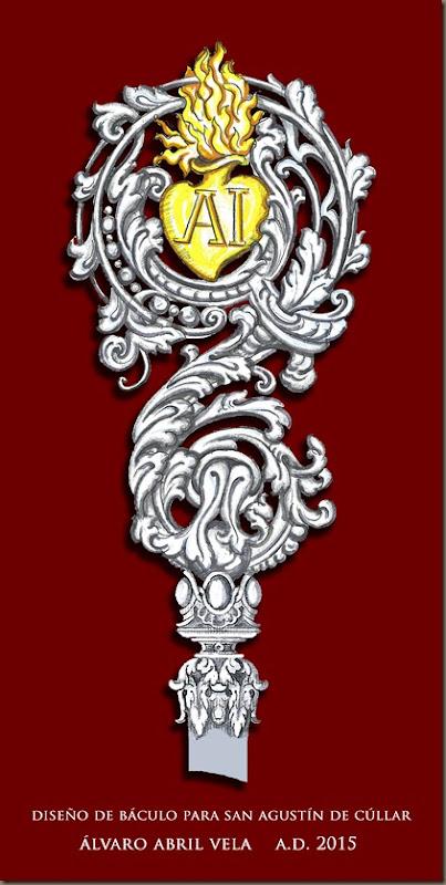 diseño de baculo para san agustin de cullar granada diseños cofrades 2015 alvaro abril vela